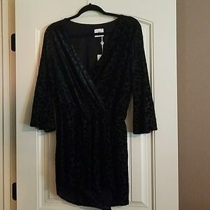 Buddy Love velvet texture Romper, New with tags.
